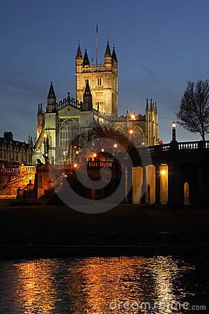 Abbaye de Bath dans la ville de Bath - Angleterre