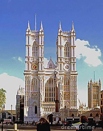 Abbaye de Westminster Photo éditorial