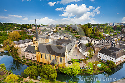 Abbey de Neumunster view in Luxembourg