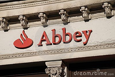 Abbey National signage, London Editorial Image