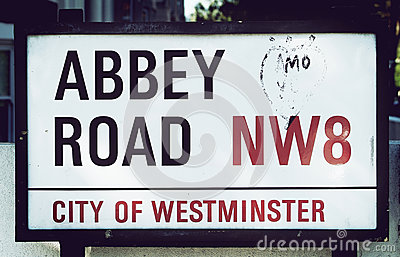 Abbey Road sign Editorial Photo