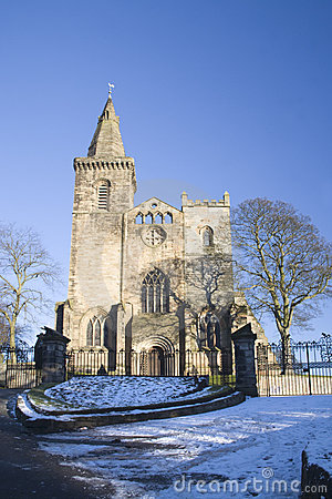 Abbey in Winter