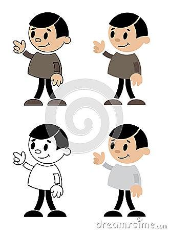 Abbildungen der Männer