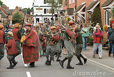 Abbots Bromley Horn Dance Editorial Photography