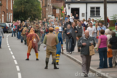 Abbots Bromley Horn Dance Editorial Stock Image