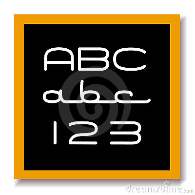 ABC 123 education black board