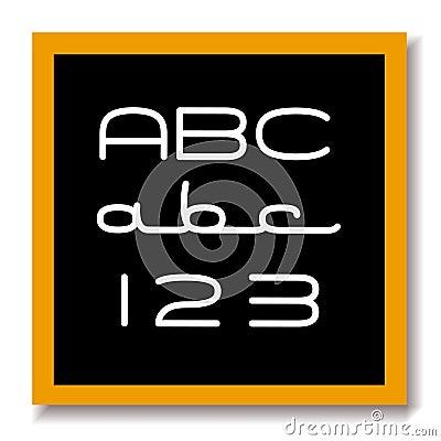 ABC 123 education black board