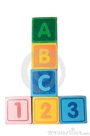 Free Abc 123 In Wooden Block Letters With Clipping Path Royalty Free Stock Photo - 15827885