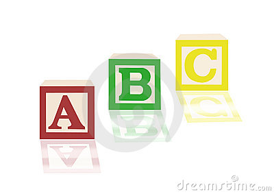 ABC alphabet blocks and images