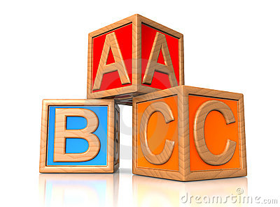 ABC blocks.