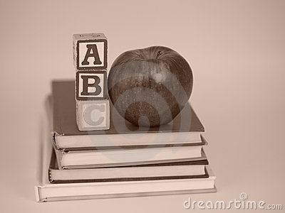 ABC Blocks, Apple and Books Vinatge