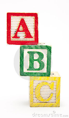 ABC Blocks Stacked