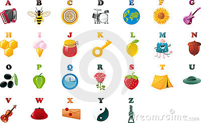 Abc book alphabet with pictures in vector