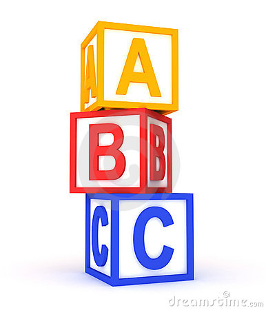 abc colorful cubes on white stock images image 21557144
