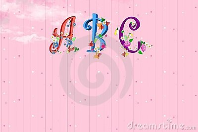 ABC fonts with flowers