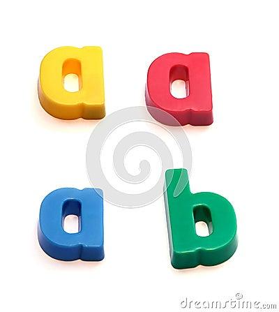 Free ABC Fridge Magnets Stock Photography - 260912