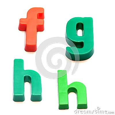 Free ABC Fridge Magnets Stock Images - 260914