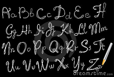 ABC, Hand drawing alphabet