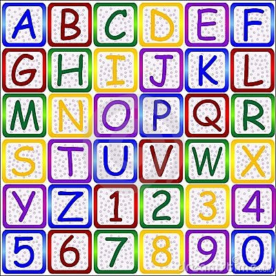 ABC letters-123 numbers