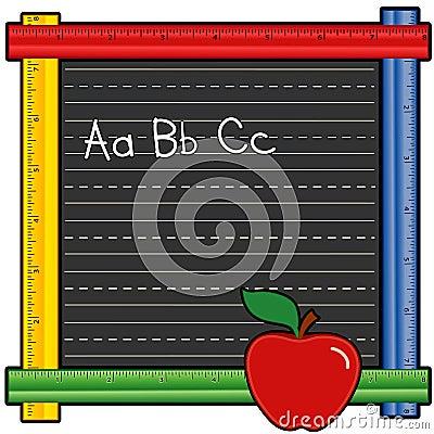 ABC Ruler Blackboard