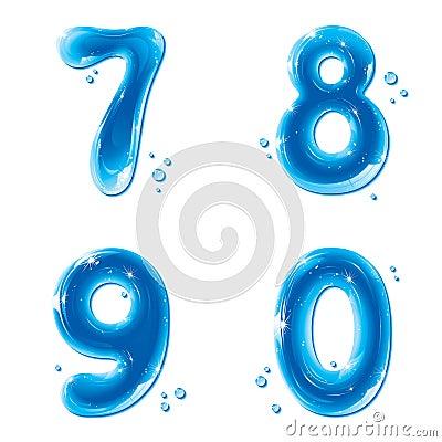 ABC series - Water Liquid Numbers - 7 8 9 0