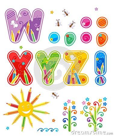 Free Abc Set Letters W - Z Plus Stock Images - 9045254