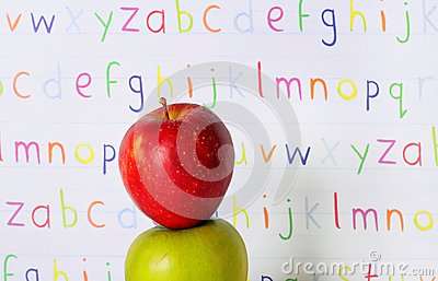 Abc stacked apples