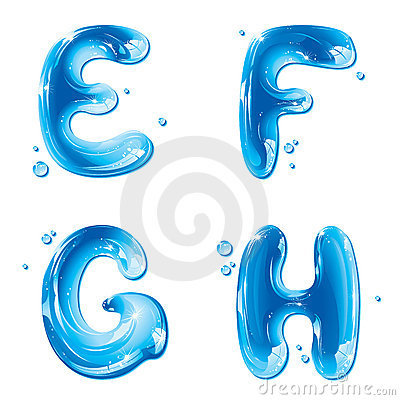G Letter In Water ABC - Water Liquid Letter Set