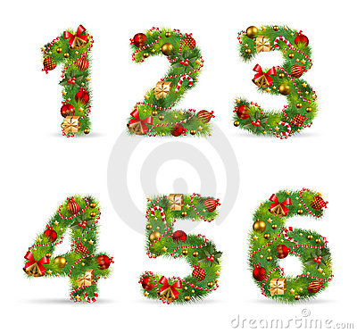 ABCDEF,  christmas tree font