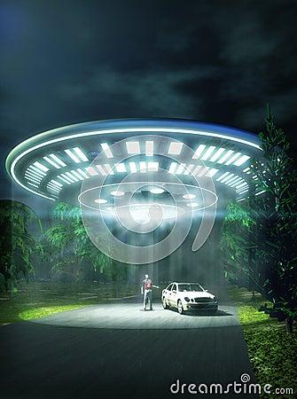 Abducción del coche del UFO