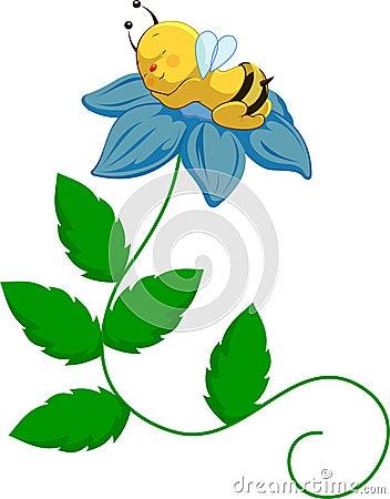 Abeja del bebé en la flor