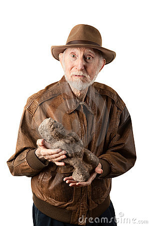 Abenteurer oder Archäologe mit Idol