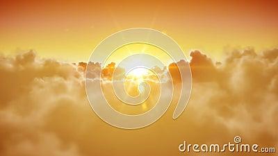 Abertura das portas do céu Sun bonito e as nuvens são loopable HD 1080 vídeos de arquivo
