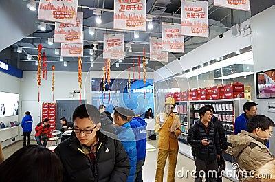 Abertura de la tienda de Samsung Foto de archivo editorial