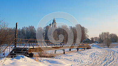 Abnormal cold spells in the center of the European part of Russi Editorial Stock Image