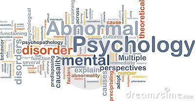 Abnormal psychology background concept