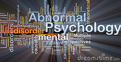 Abnormal psychology background concept glowing