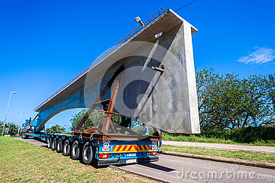 Transport Truck Trailer Concrete Load Editorial Stock Image