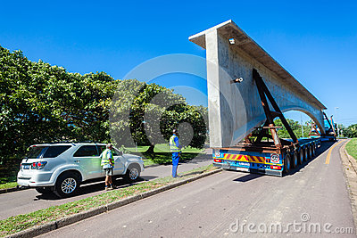 Transport Engineering Heavy Bridge Structure Editorial Stock Photo