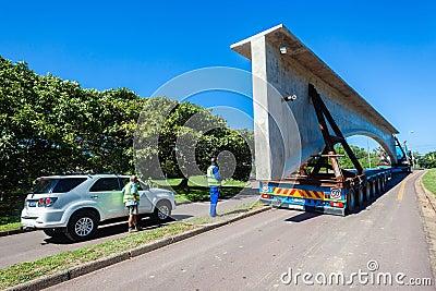 Transport Engineering Heavy Bridge Structure Editorial Stock Photo