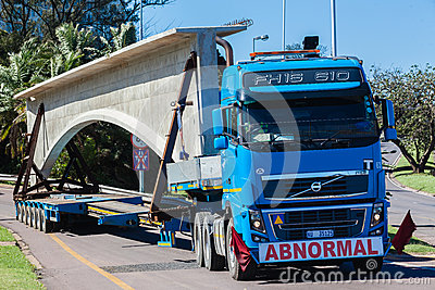 Abnormal Truck Trailer Heavy Load Editorial Stock Photo