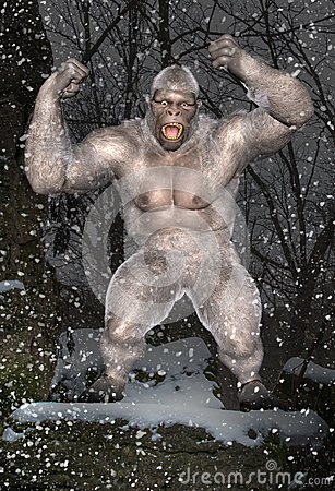 Free Abominable Snowman, Yeti, Mythical Beast Stock Photography - 49352032