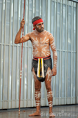 Aboriginal with body paint Editorial Image