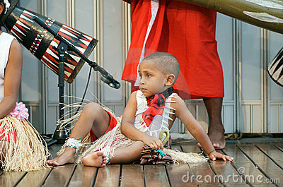 Aboriginal boy in costume Editorial Stock Photo