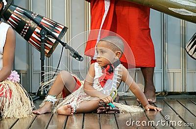 Aboriginal boy in costume Editorial Stock Photo