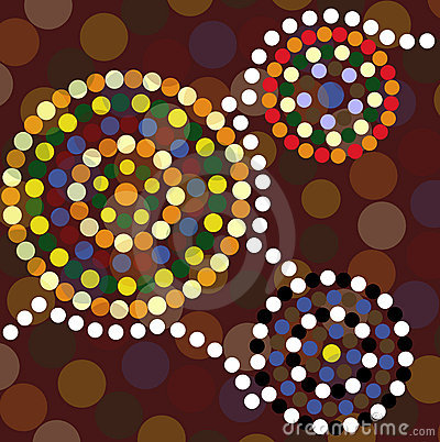 Aboriginal dot painting background
