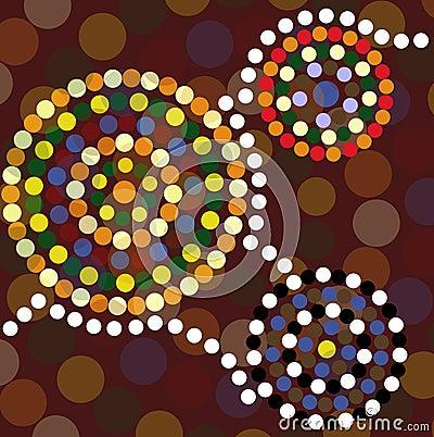Aboriginal dot painting background