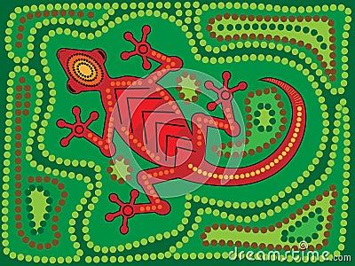Aboriginal Lizard