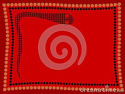 aboriginal snake stock photo image 3567270. Black Bedroom Furniture Sets. Home Design Ideas