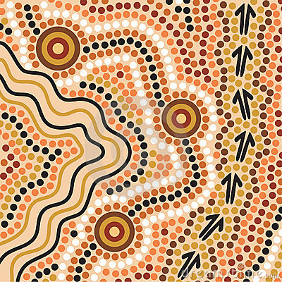 Free Aboriginal Style Background Stock Photos - 2833073